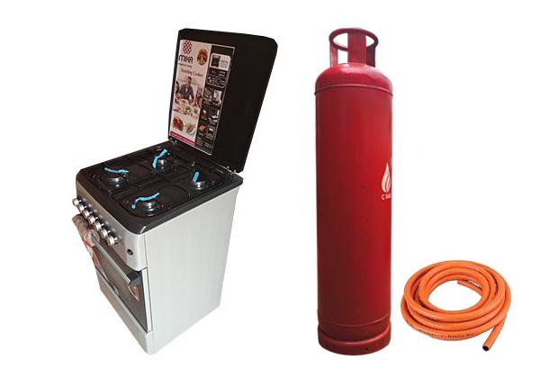 45Kg Cylinder + Gas + Hosepipe + Cooker