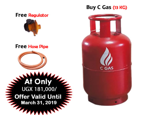 Buy C Gas 13KG and Get Free Cylinder and Free Hose, Offer valid until March 31, 2019