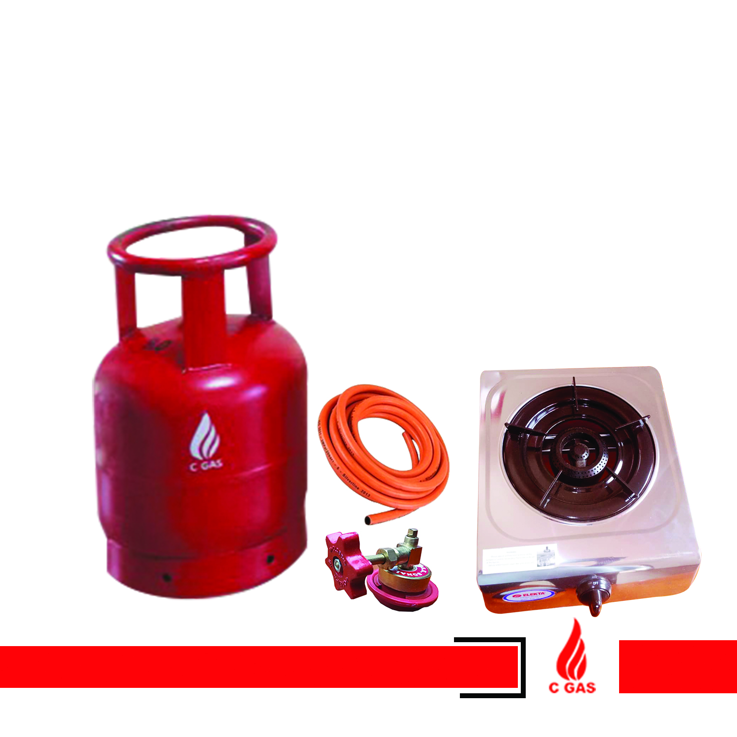 6Kg Gas Full Package ( Cylinder, Gas, Pipe, Regulator, Single Burner)